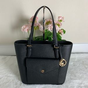 Michael Kors Jet Set Leather Pocket Tote
